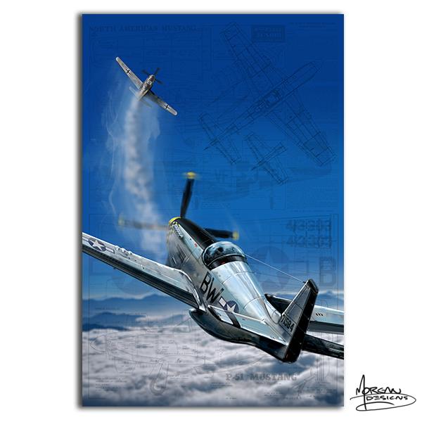 Morgan Designs P-51 Dog fight Canvas art