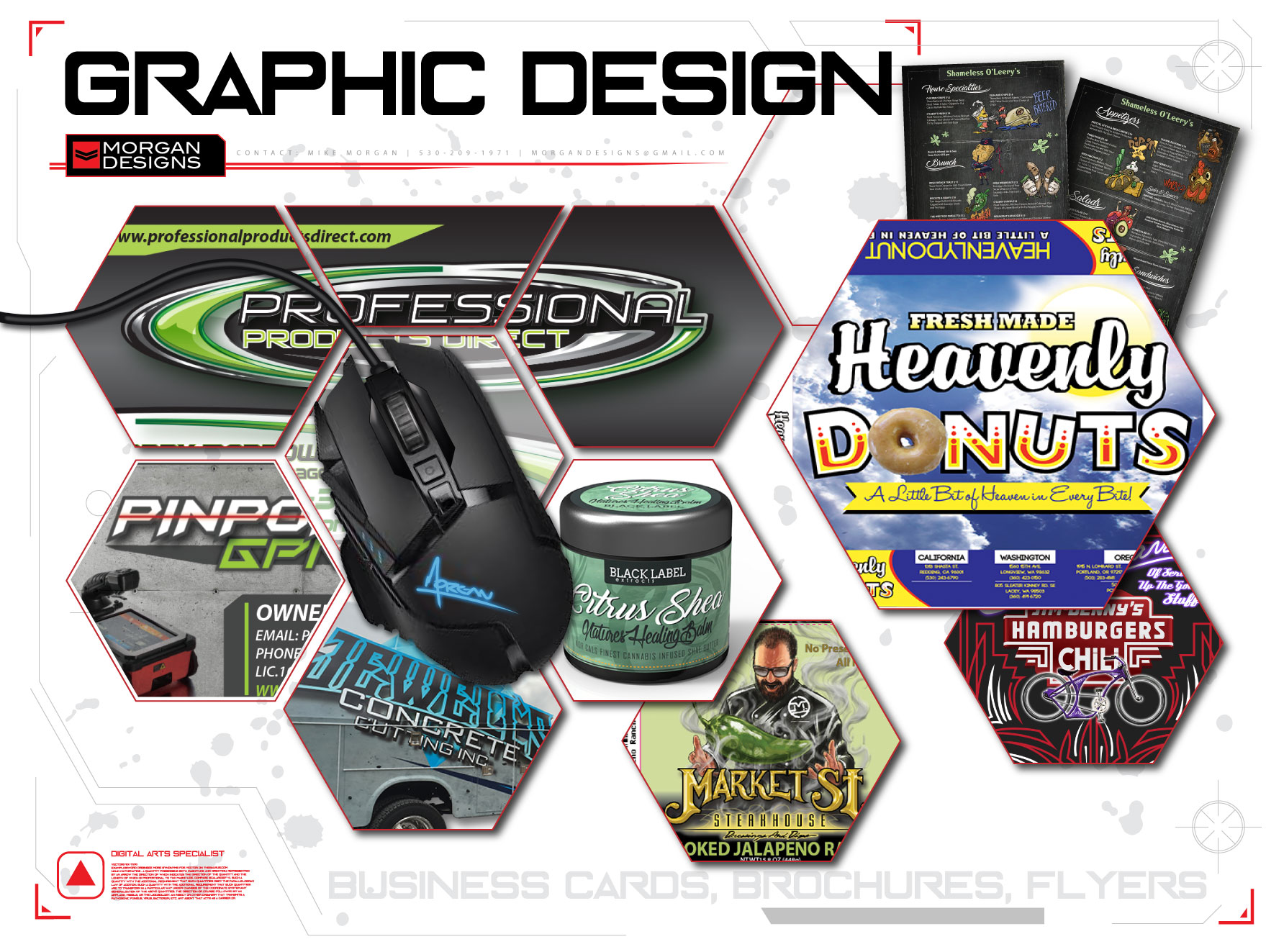 Graphic design by Mike Morgan Redding CA